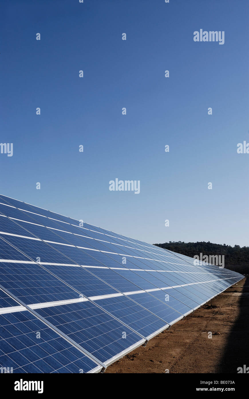 Solar panel in perspective - Stock Image