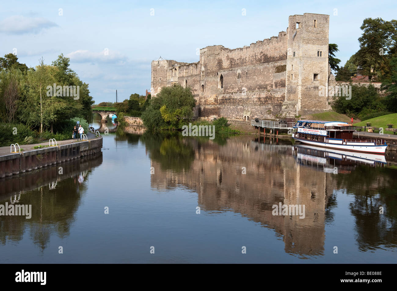 Newark Castle by the River Trent,Nottinghamshire,England,'United Kingdom','Great Britain',GB,UK,EU - Stock Image