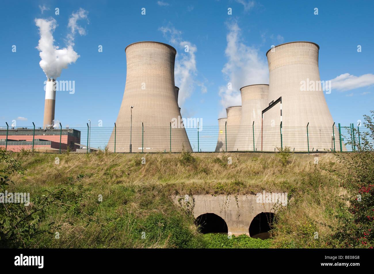 Cottam Power Station at Retford, Nottinghamshire, England,'Great Britain','United Kingdom',GB,UK,EU - Stock Image