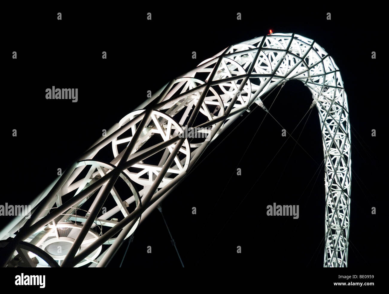 Wembley stadium arch in London England - Stock Image
