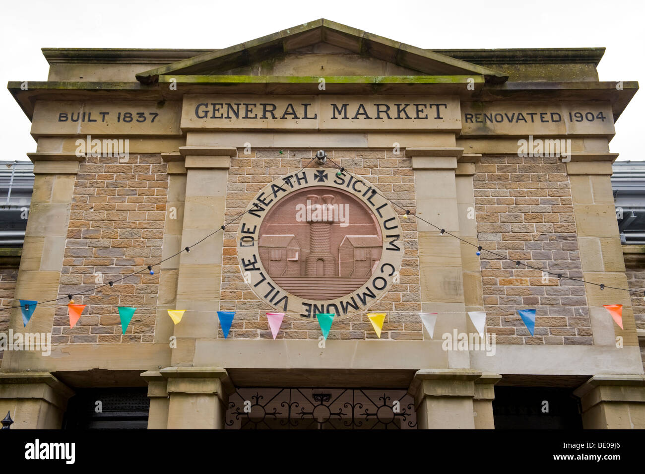 Exterior of Neath General Market built 1837 renovated 1904 at Neath South Wales UK - Stock Image