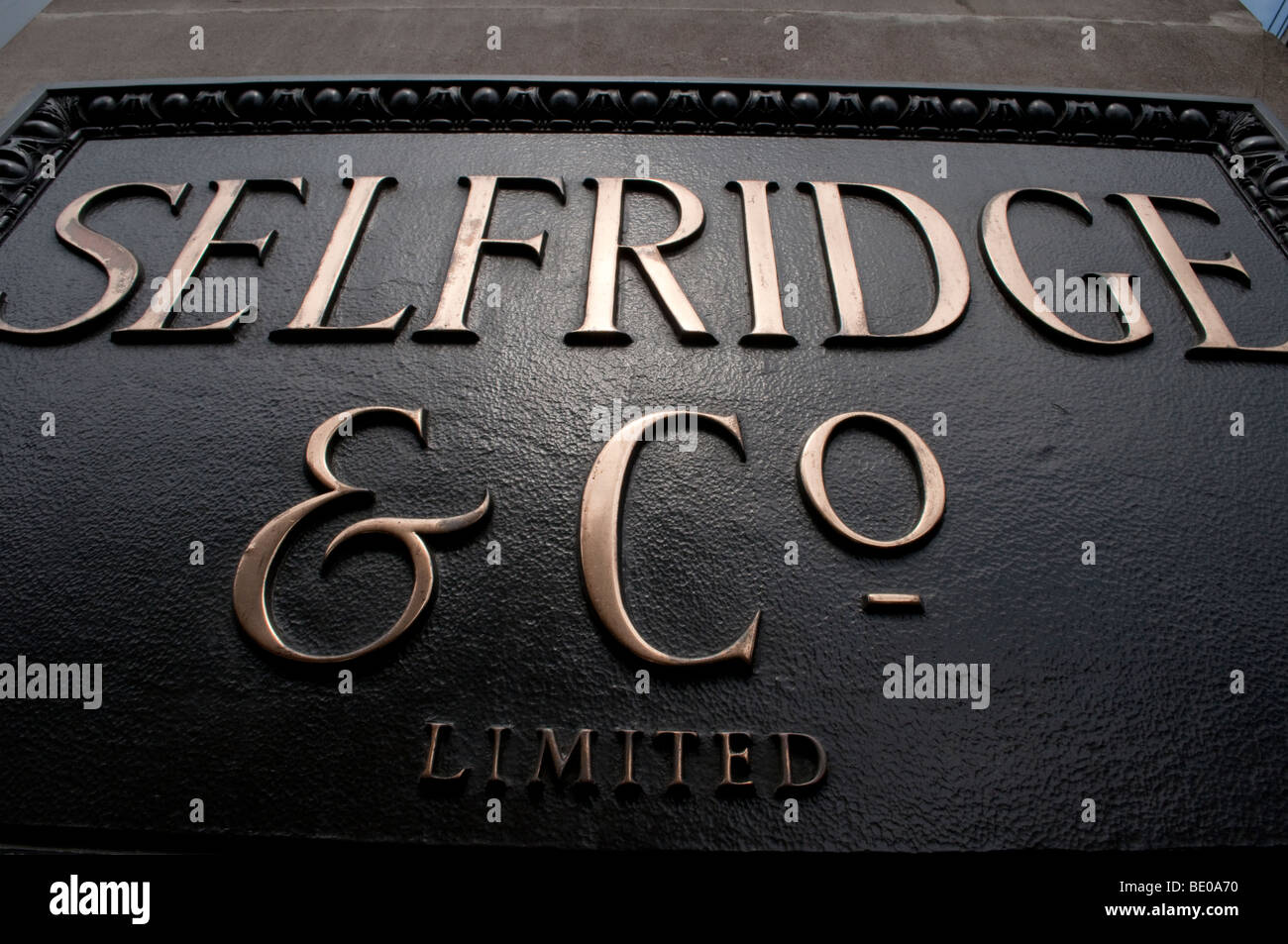 Selfridge and Co on Oxford Street in London - Stock Image