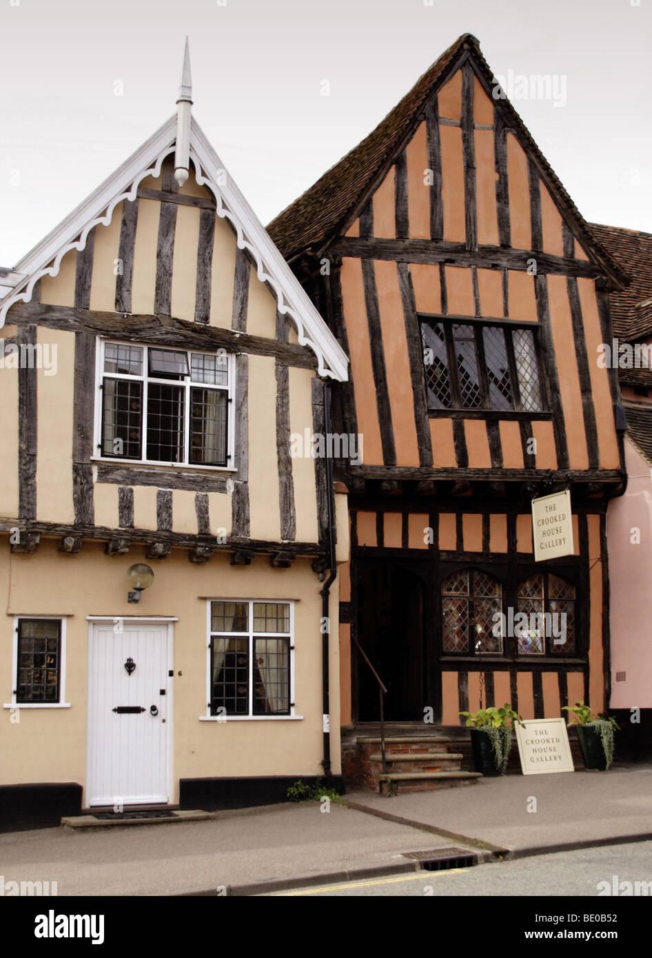 Crooked House, Lavenham, Suffolk, England - Stock Image