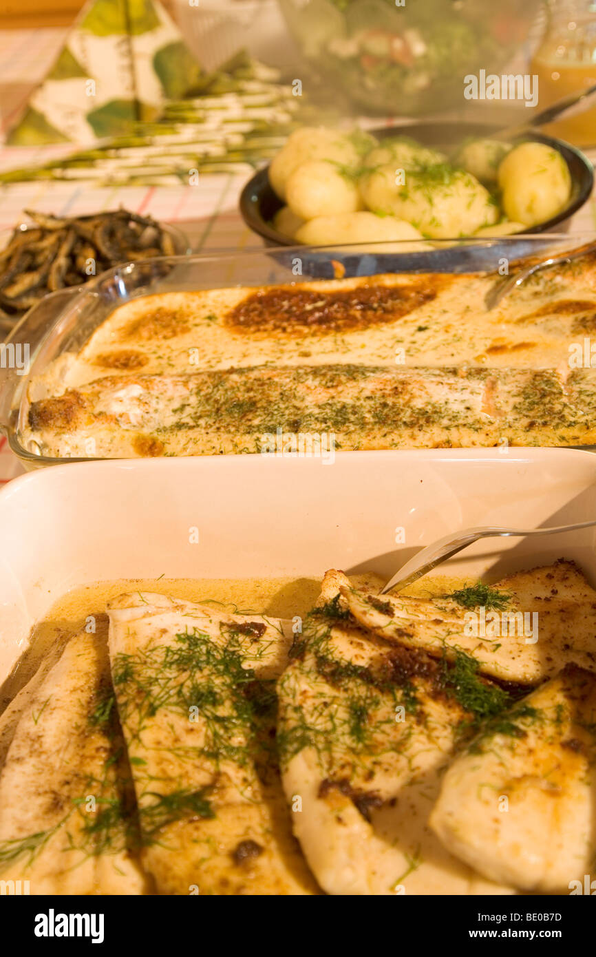 Pike baked in the oven