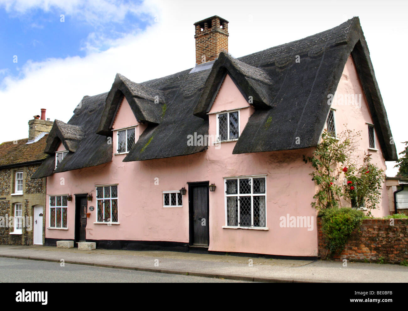 Thatched House in Lavenham, Suffolk, England - Stock Image
