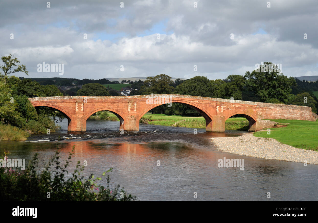 Bridge over the River Eden. Lazonby, Cumbria, England, United Kingdom, Europe. - Stock Image