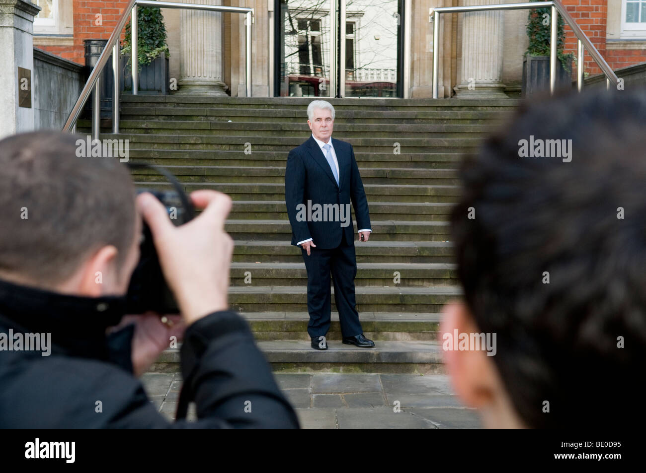 Max Clifford, publicist and PR agent.  Here during visit to his client Jade Goody, in the Royal Marsden Hospital. Stock Photo