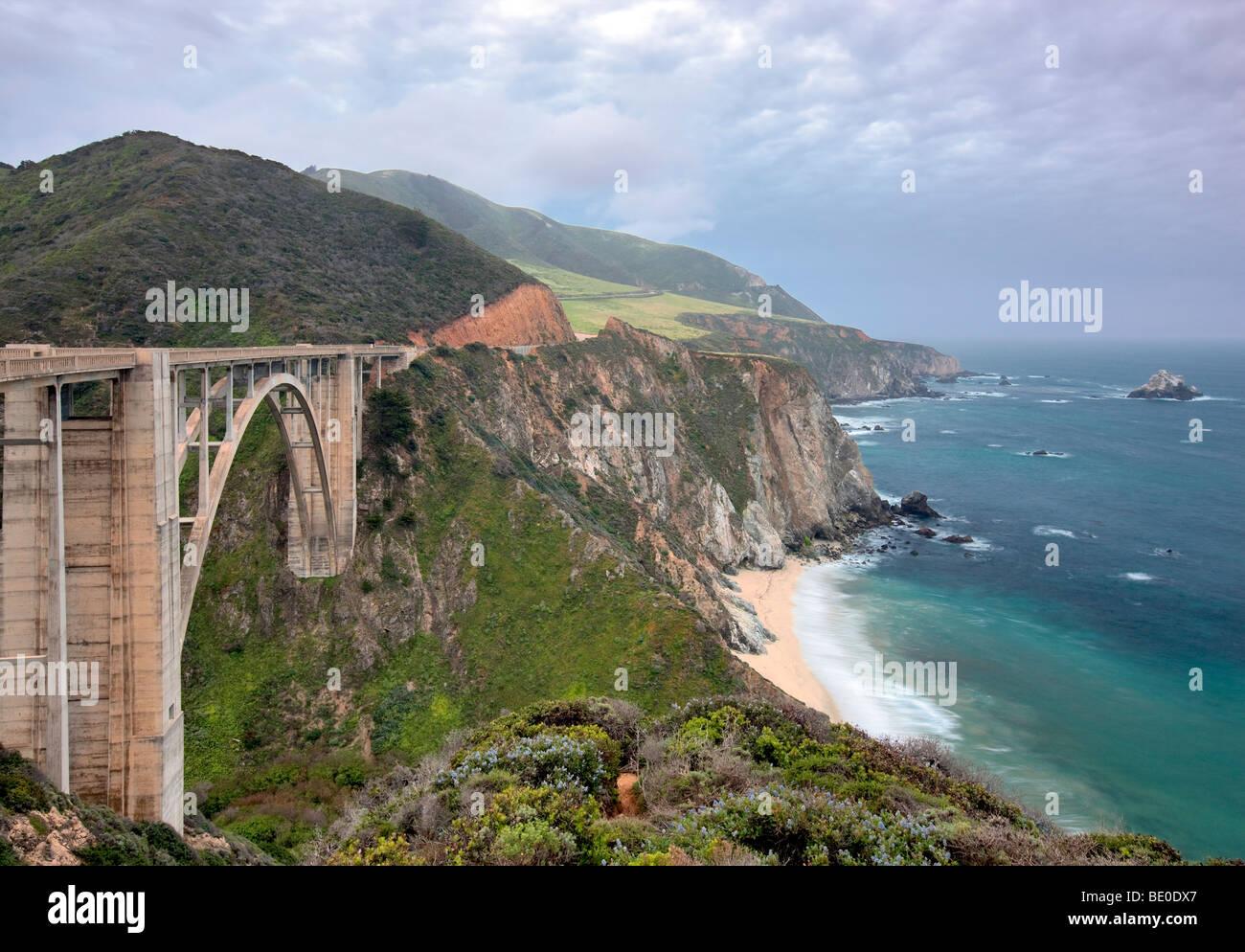 Bixby Creek Bridge. Big Sur coast. California. - Stock Image