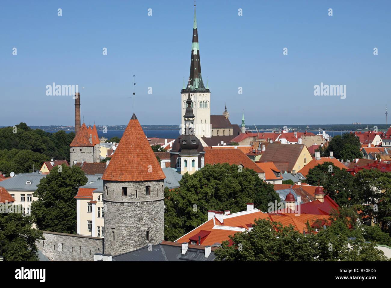 Tallinn old town - Stock Image