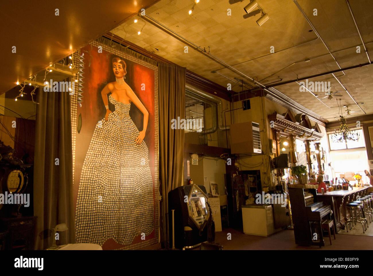 Silver Queen Saloon, Virginia City, NV - Stock Image