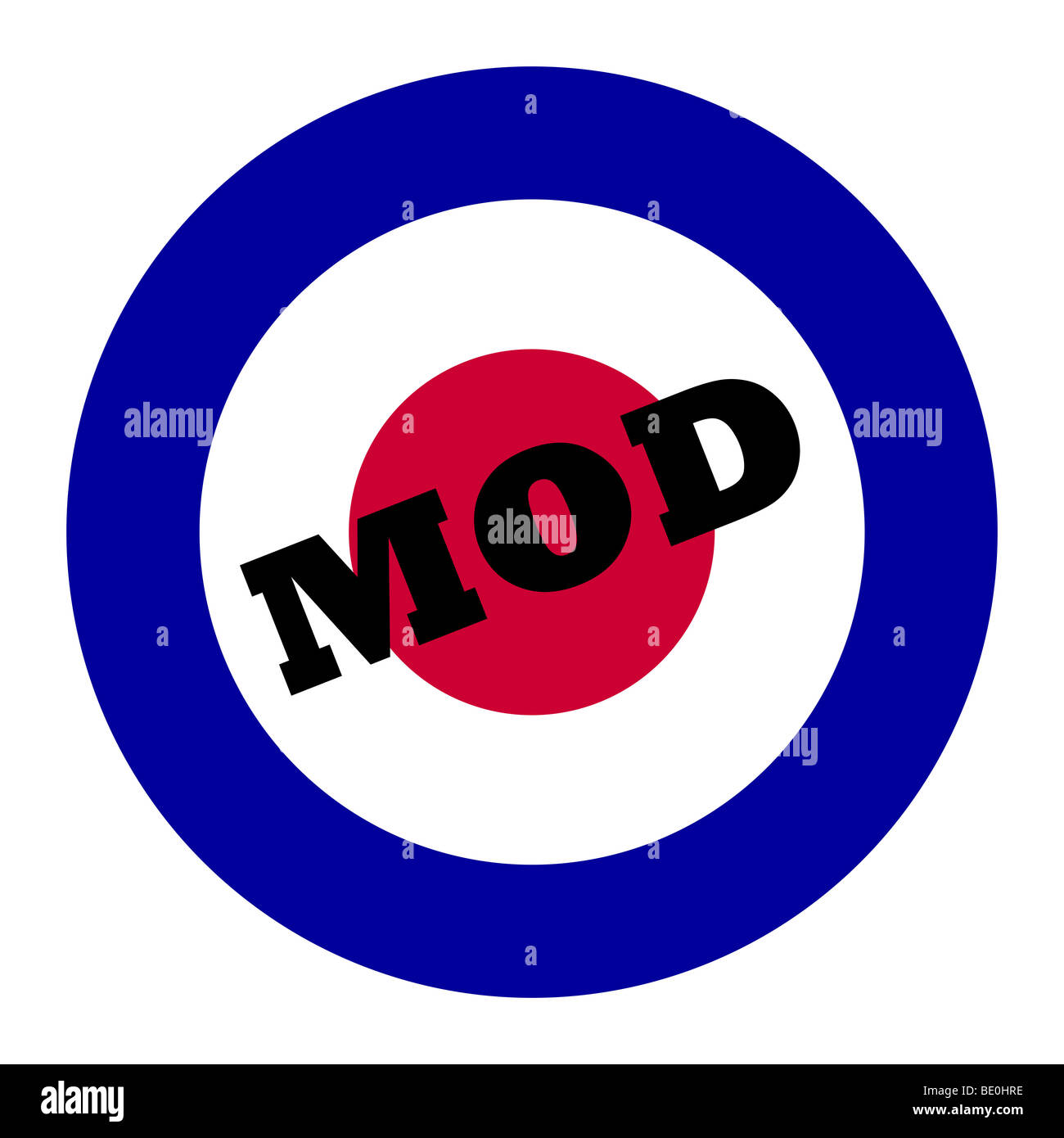 British Royal Air Force roundel, also used as symbol of mod music. - Stock Image