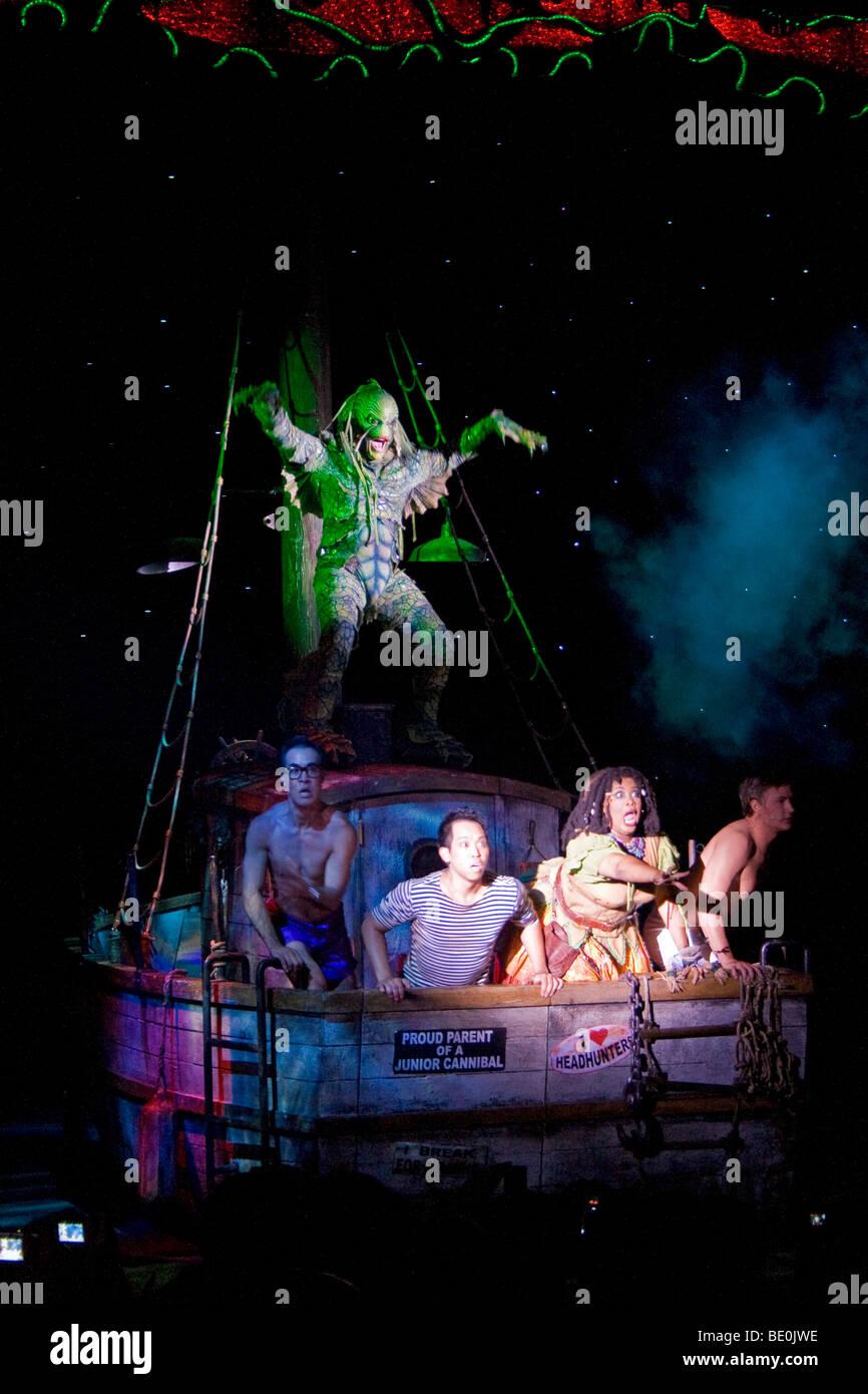 Creature of the Black Lagoon musical, Universal Studios, Los Angeles, California, USA - Stock Image