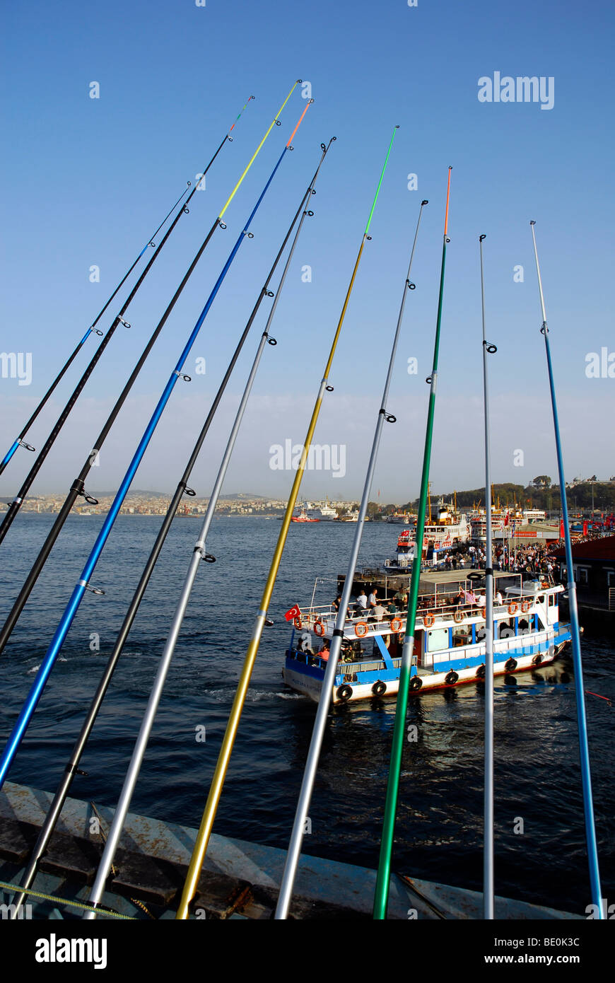 Fishing Rods On Back Fishing Stock Photos & Fishing Rods On Back ...