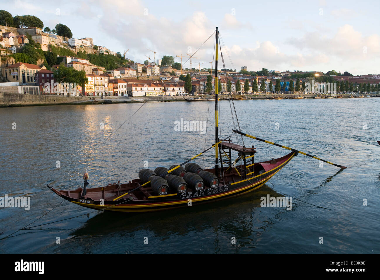 Typical Rabelo boat on the Douro river, Porto, Portugal, Europe Stock Photo