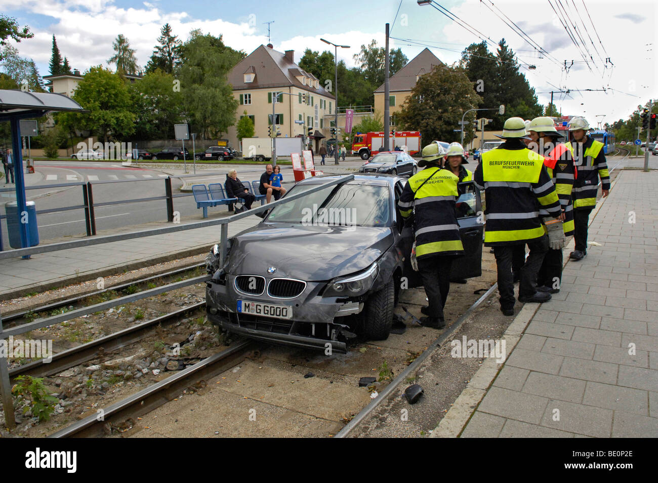 accident car on tram tracks license plate changed munich bavaria stock photo 25832870 alamy. Black Bedroom Furniture Sets. Home Design Ideas