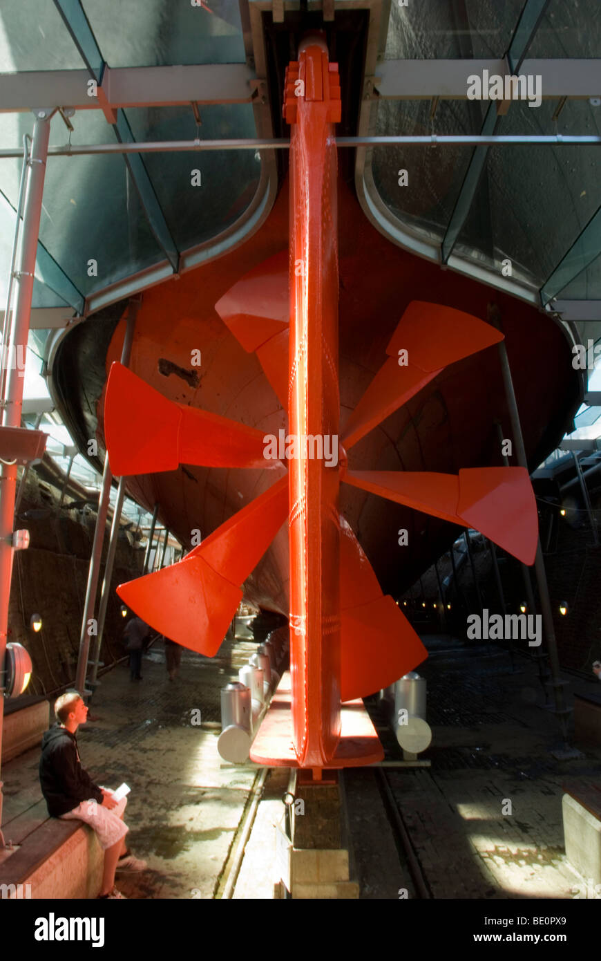 Propeller of the SS Great Britain - Stock Image