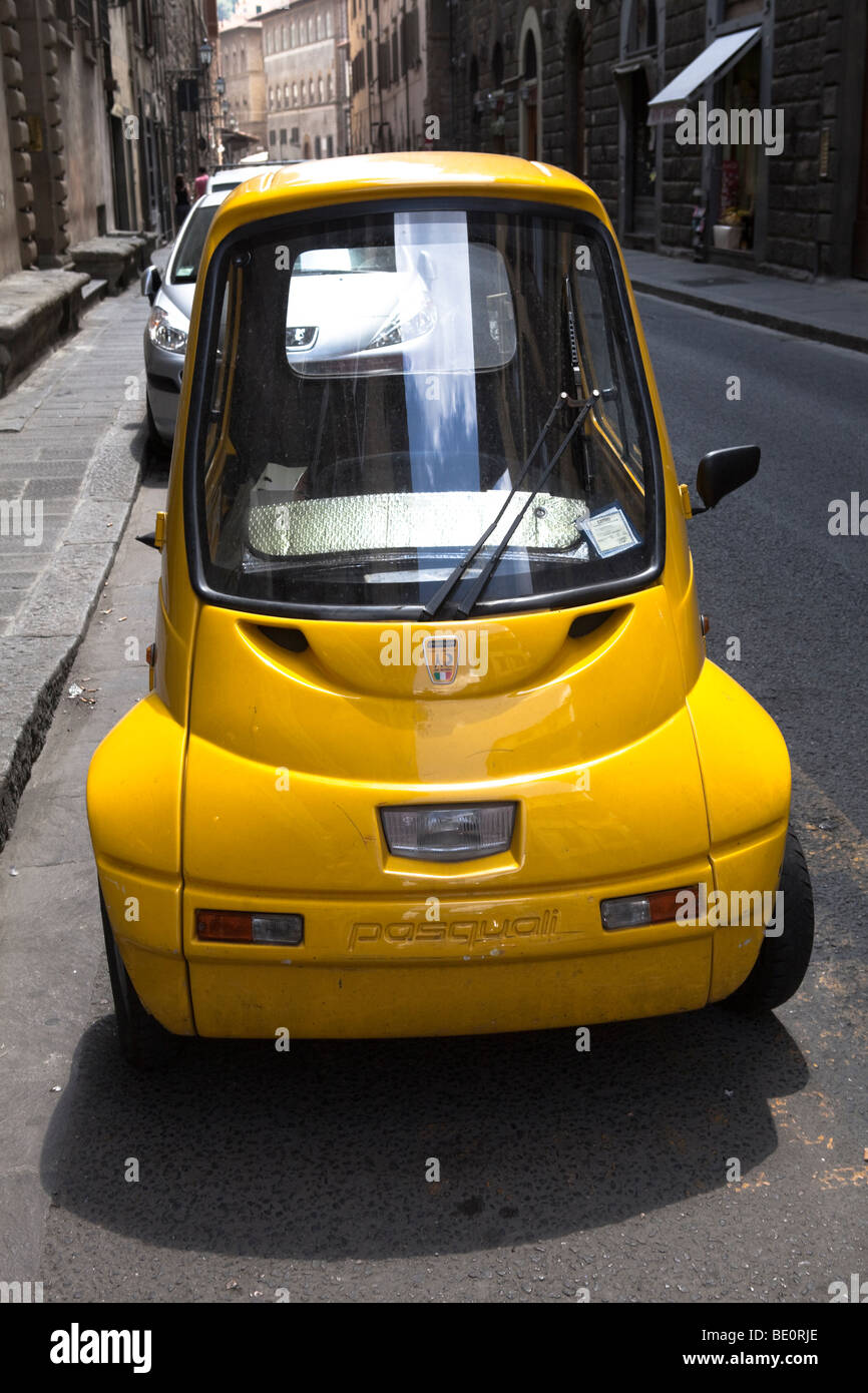 Incredible And Funny Electric Car In Streets Of Firenze Tuscany Stock Photo Alamy