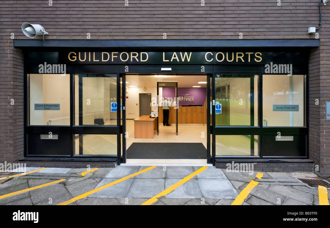 Guildford Law Courts - Stock Image