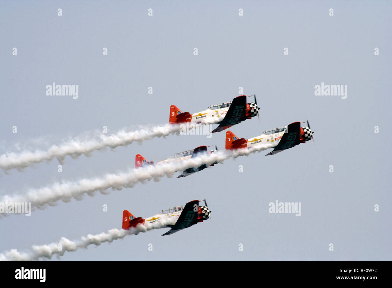 The Aero Shell Aerobatic Team. The Chicago Air and Water Show 2009 - Stock Image