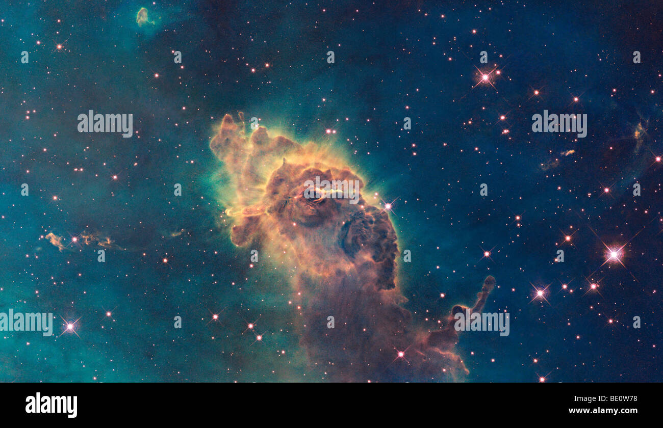 New NASA Hubble Telescope view of galactic scene - Stock Image