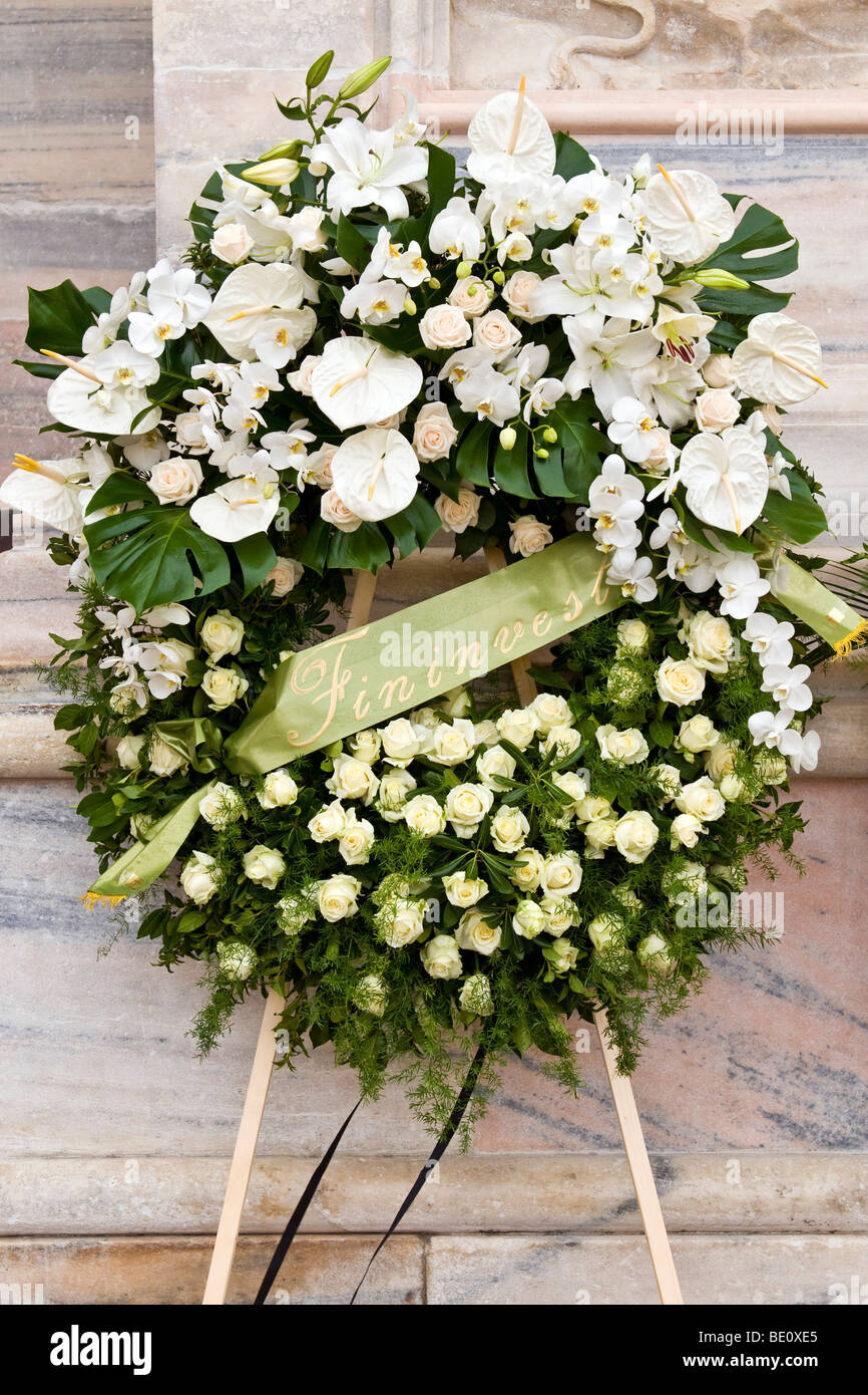 Funeral flowers stock photos funeral flowers stock images alamy flowers fininvest funeral of mike bongiorno milan italy 12 september 2009 izmirmasajfo Gallery