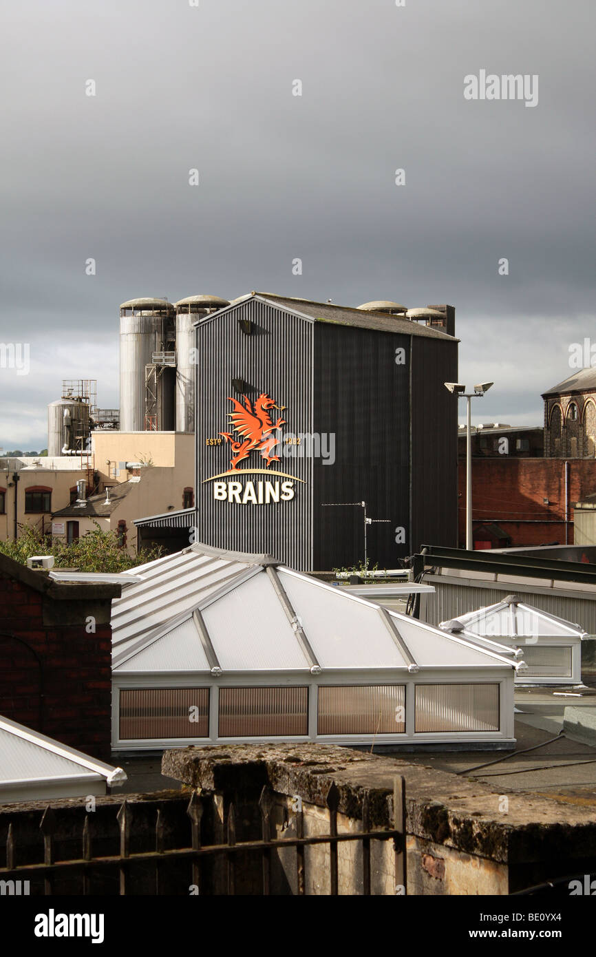 Brains Brewery in Cardiff - Stock Image
