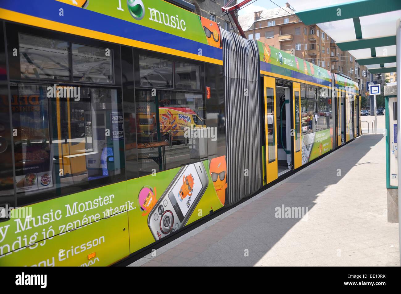 Eastern Europe, Hungary, Budapest, Tram Stock Photo