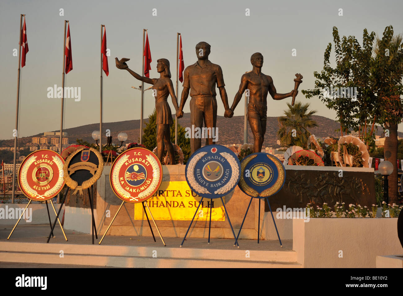 Atatuerk monument in Kusadasi, Turkey. - Stock Image