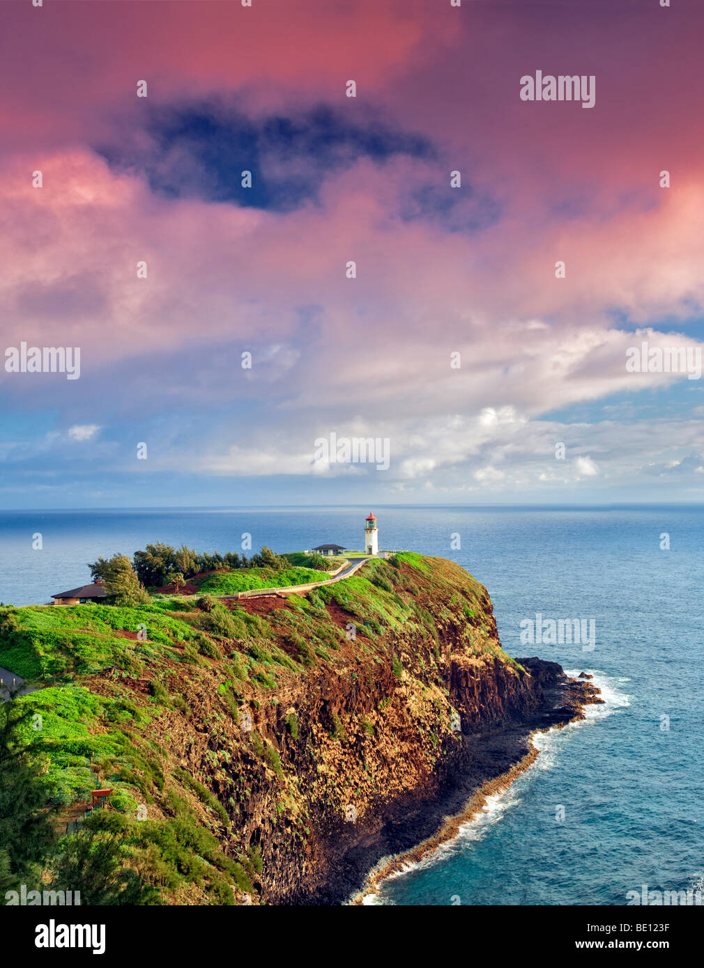 Kilauea Lighthouse. Kilauea Point National Wildlife Refuge, Kauai, Hawaii. - Stock Image