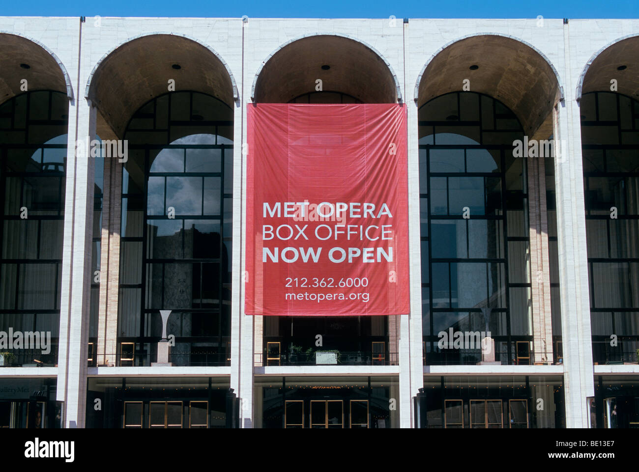 New York City Metropolitan Opera House Lincoln Center For The Performing Arts NYC USA - Stock Image
