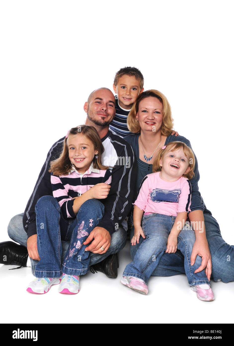 28a8e3cfdf620 Family Husband And Wife And Kids Children Stock Photos   Family ...