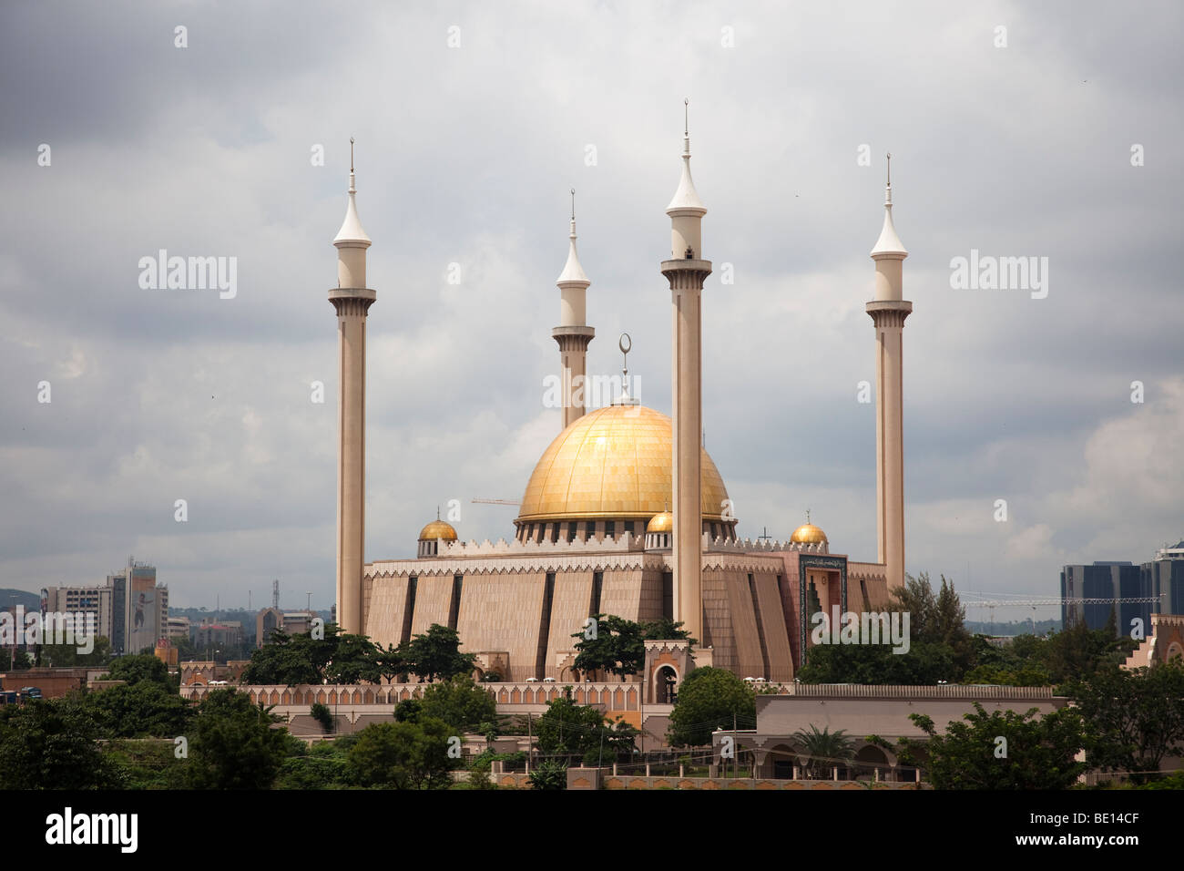 Grand Mosque in Nigeria's capital city of Nigeria - Stock Image