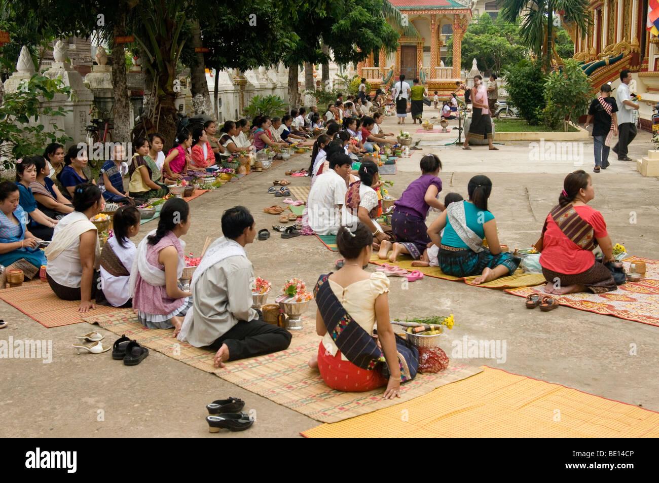 Boun Khao Salak festival at Savannakhet, Laos - Stock Image