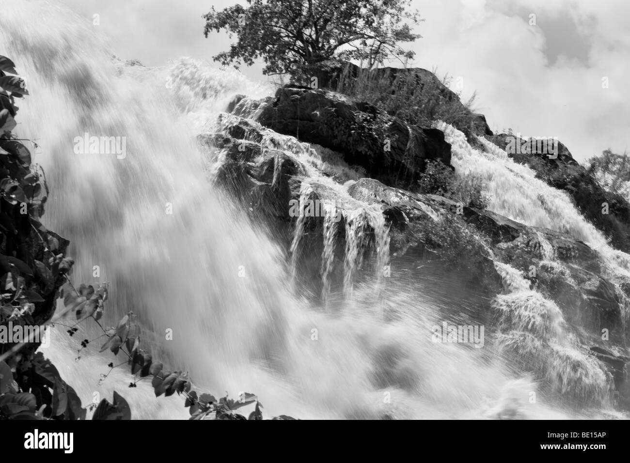 The impressive Gurara Falls, on the Gurara River in Nigeria's Niger State, is 200 meters wide boasting a sheer - Stock Image