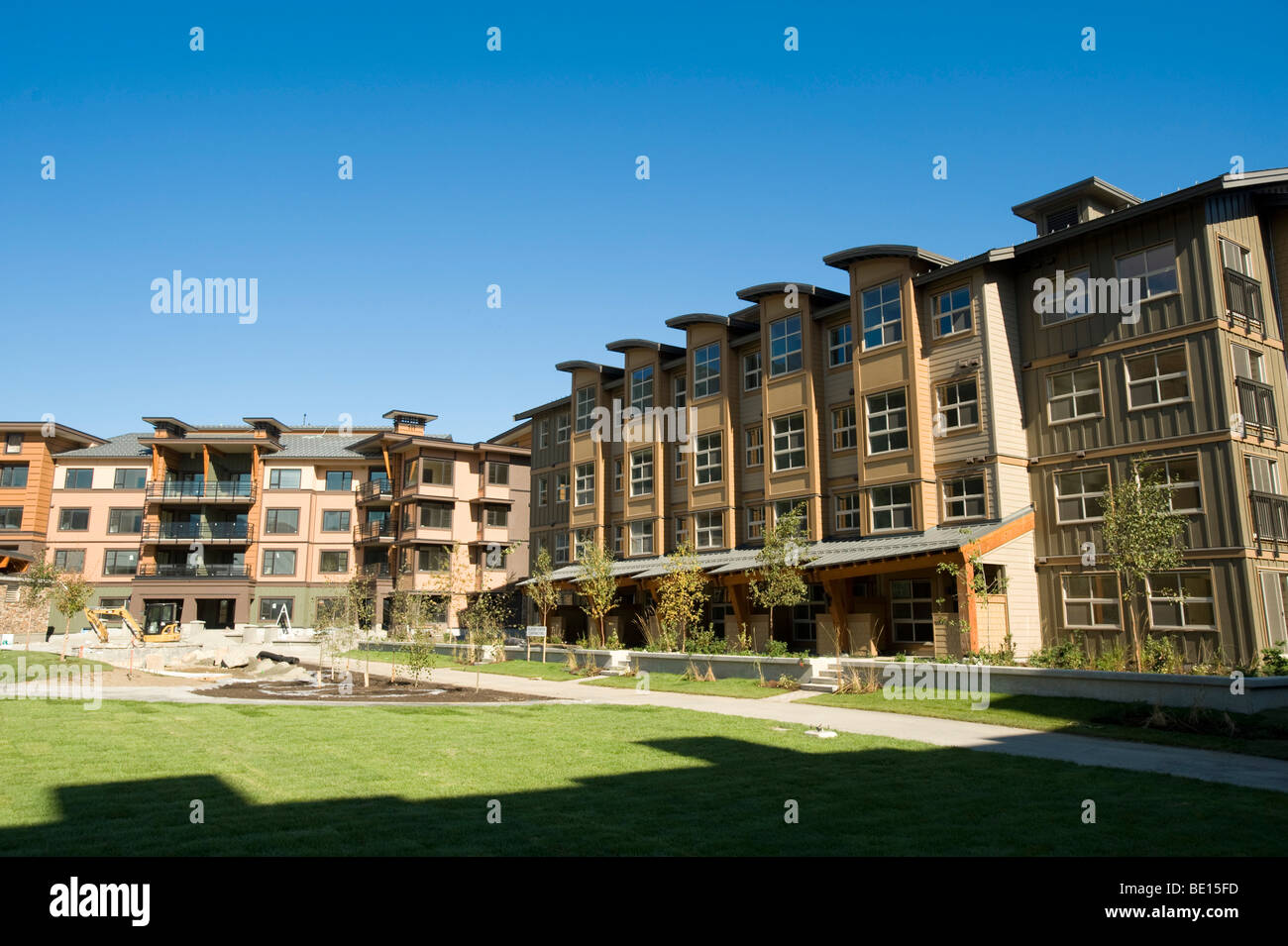 The Whistler 2010 Olympics Athlete's Village open house. - Stock Image