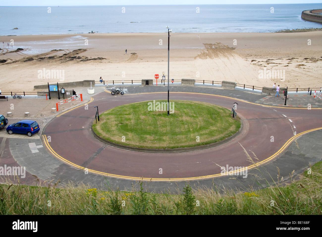 roundabout at Roker sunderland - Stock Image
