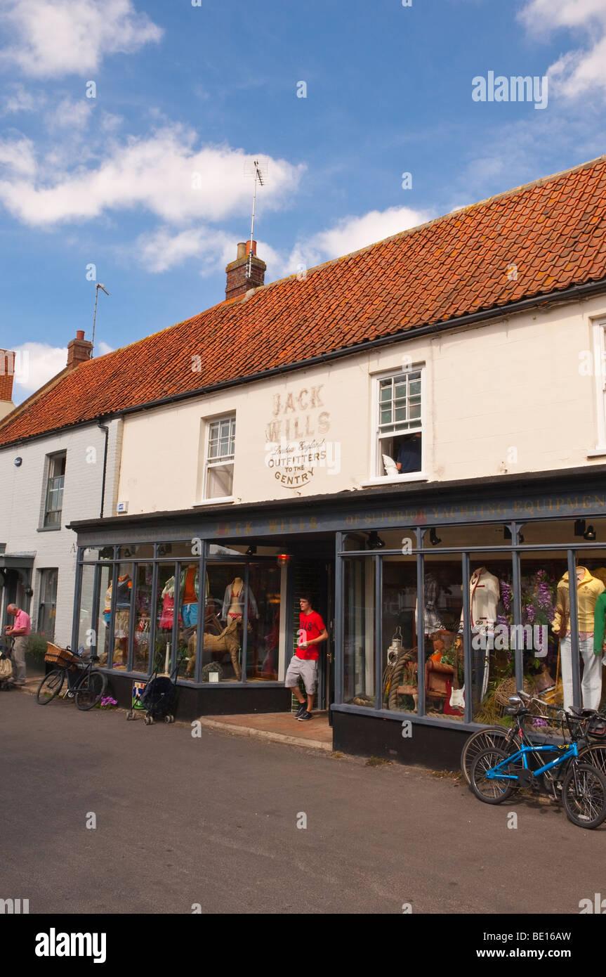 Jack Wills shop store in The Popular North Norfolk village of Burnham Market in Norfolk Uk - Stock Image