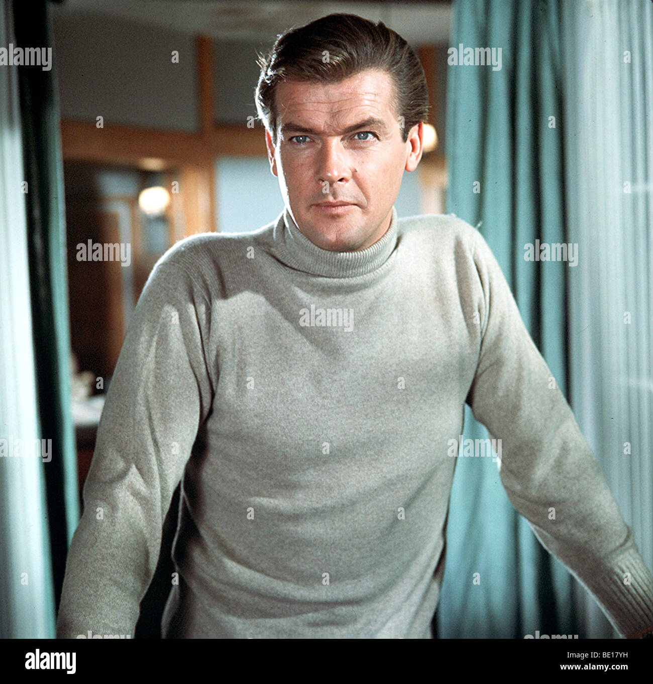 THE SAINT - UK TV series (1960-69) with Roger Moore as Simon Templar - Stock Image
