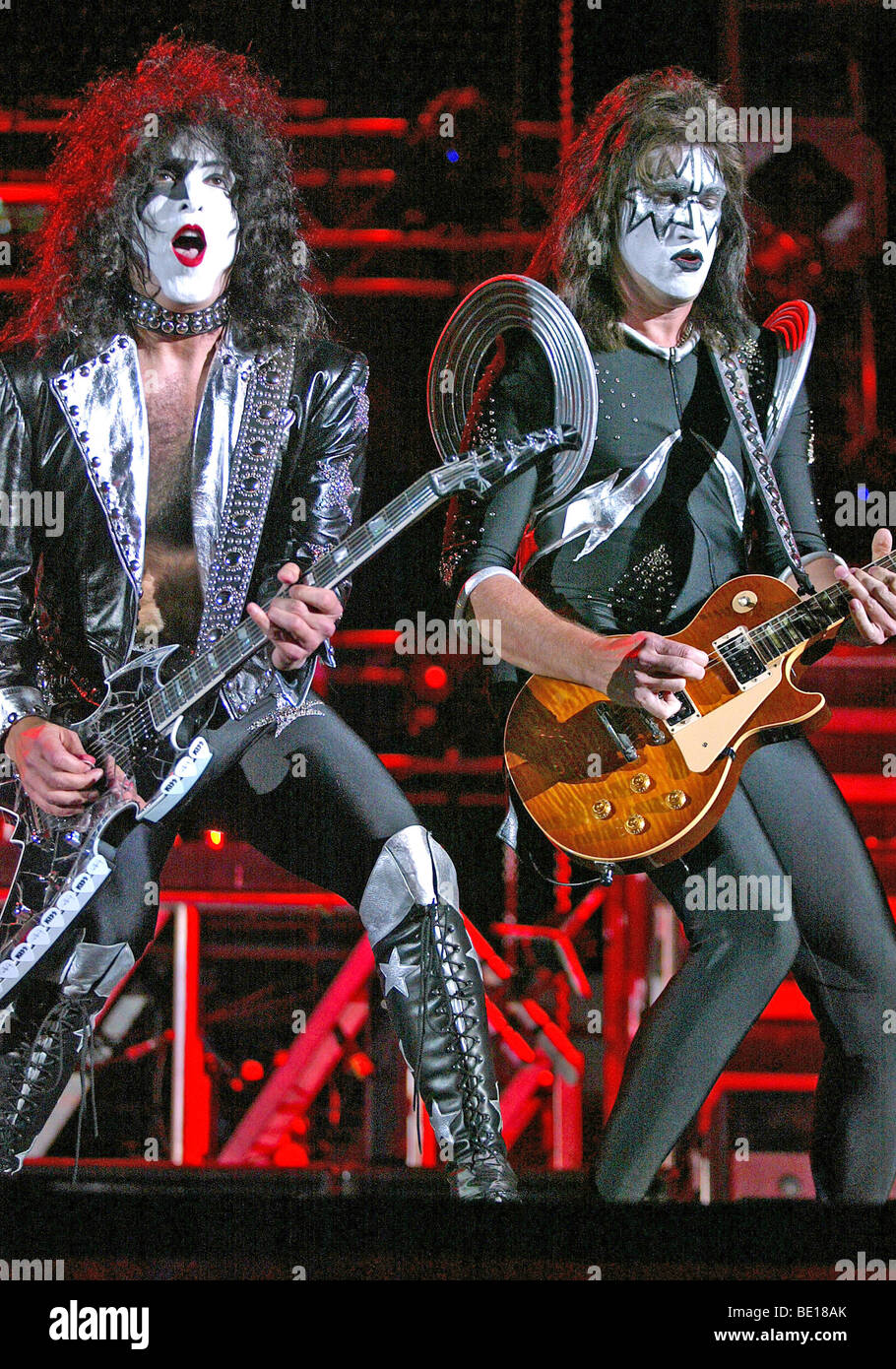 KISS - US Heavy Metal group in 2003 - Stock Image