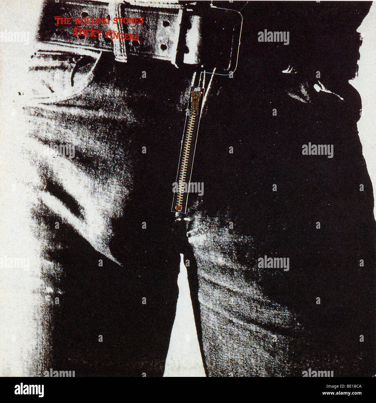 ROLLING STONES  - cover of their 1971 album Sticky Fingers - Stock Image