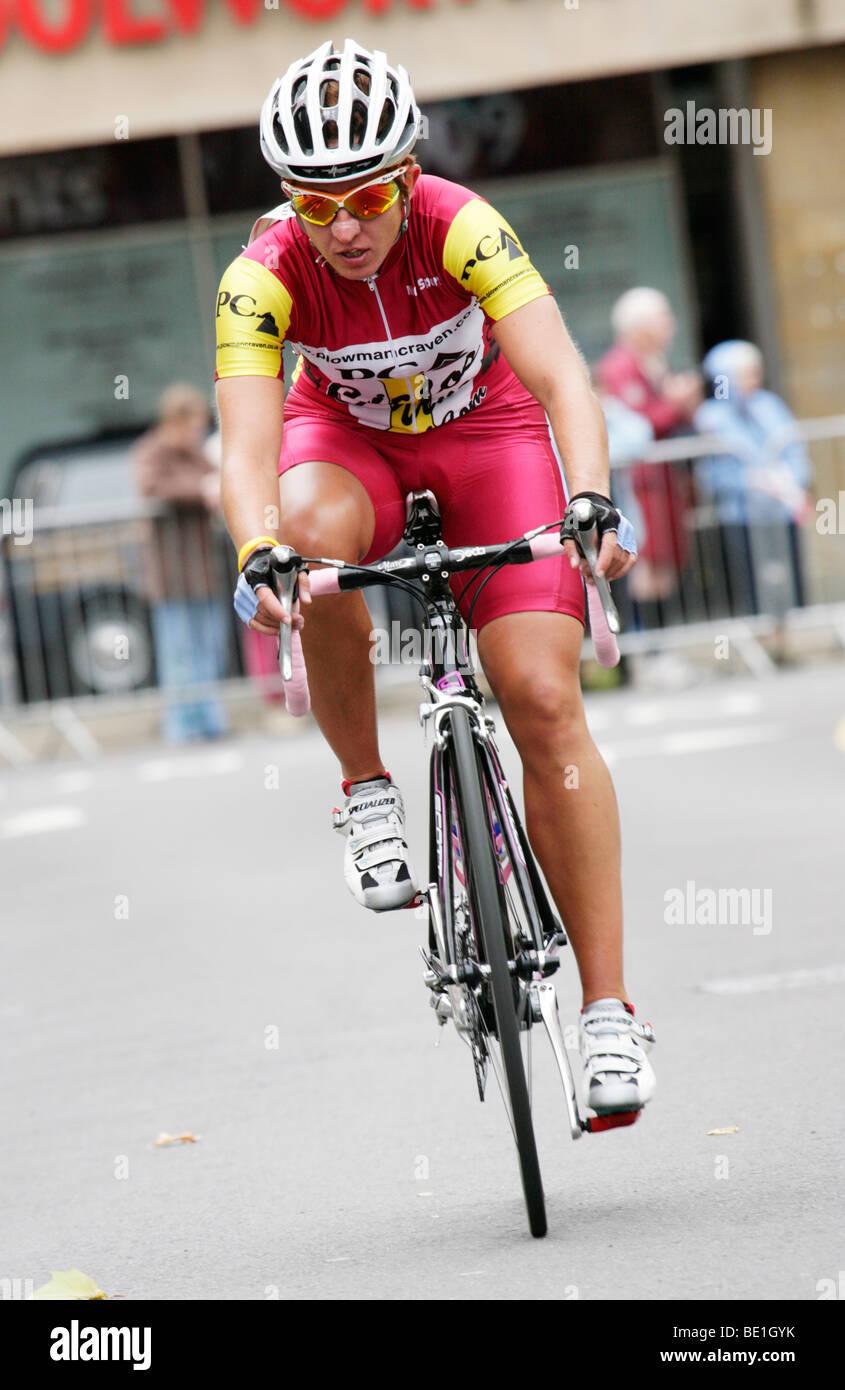 Nicola Juniper Cycle Races Warwick 2009 - Stock Image