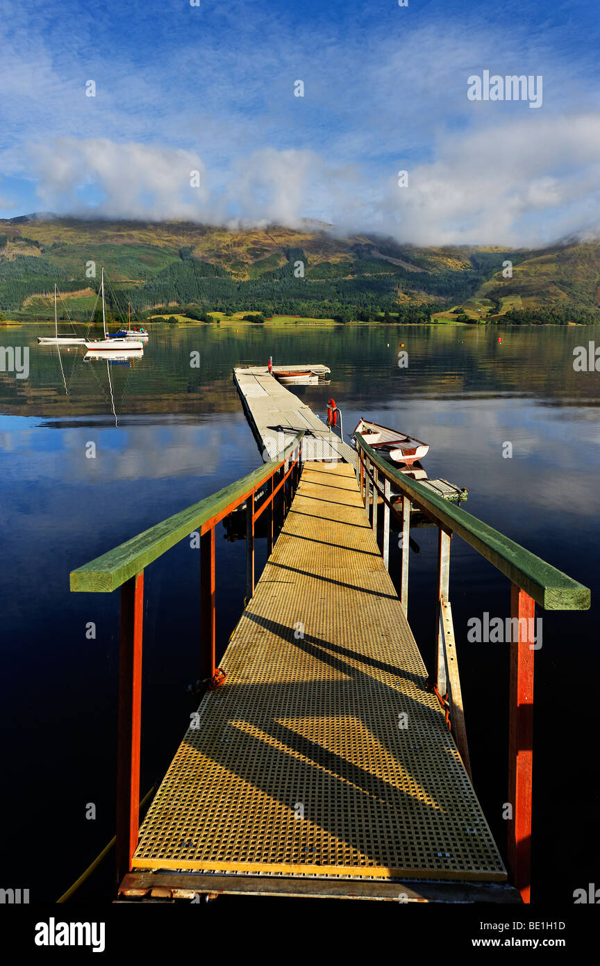 Jetty on Loch Leven - Stock Image