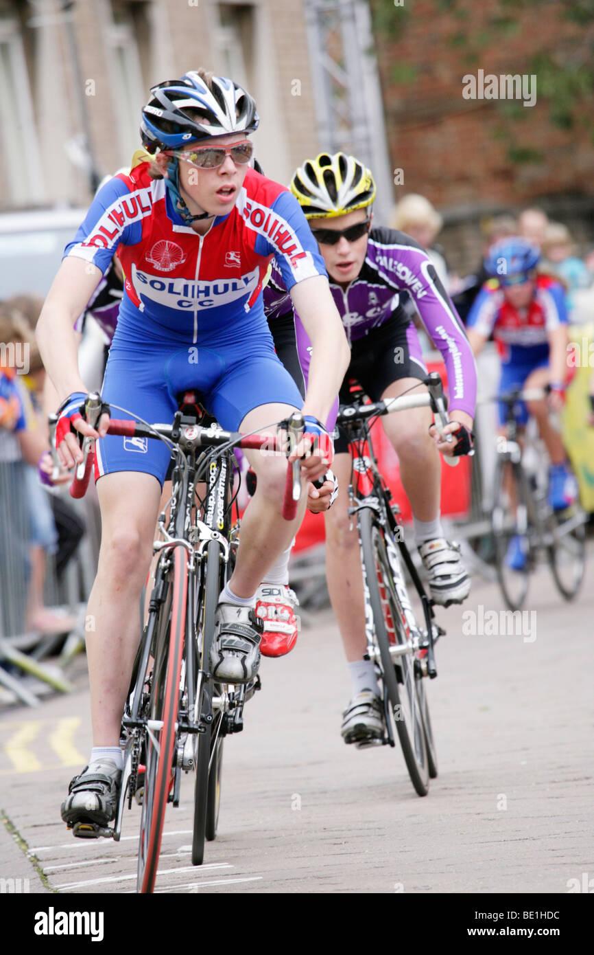 Cycle Races Warwick 2009 - Stock Image