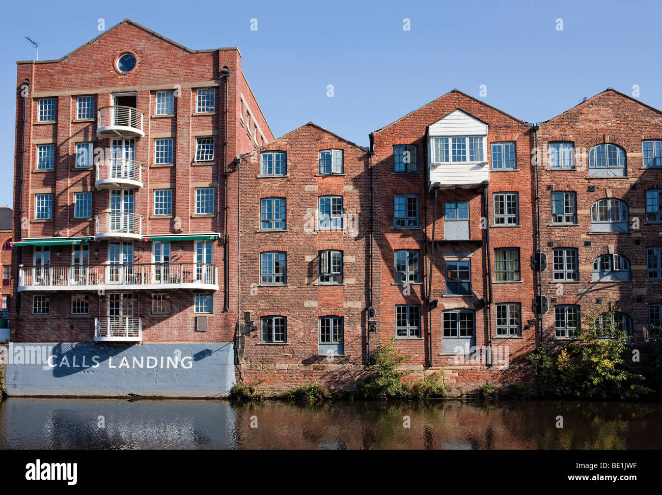 Calls Landing on the River Aire in Leeds - Stock Image