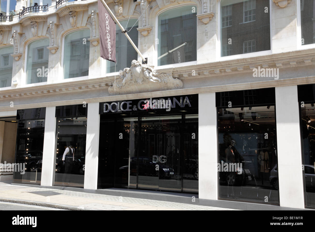 exterior of the dolce & gabbana store on old bond street mayfair london uk - Stock Image