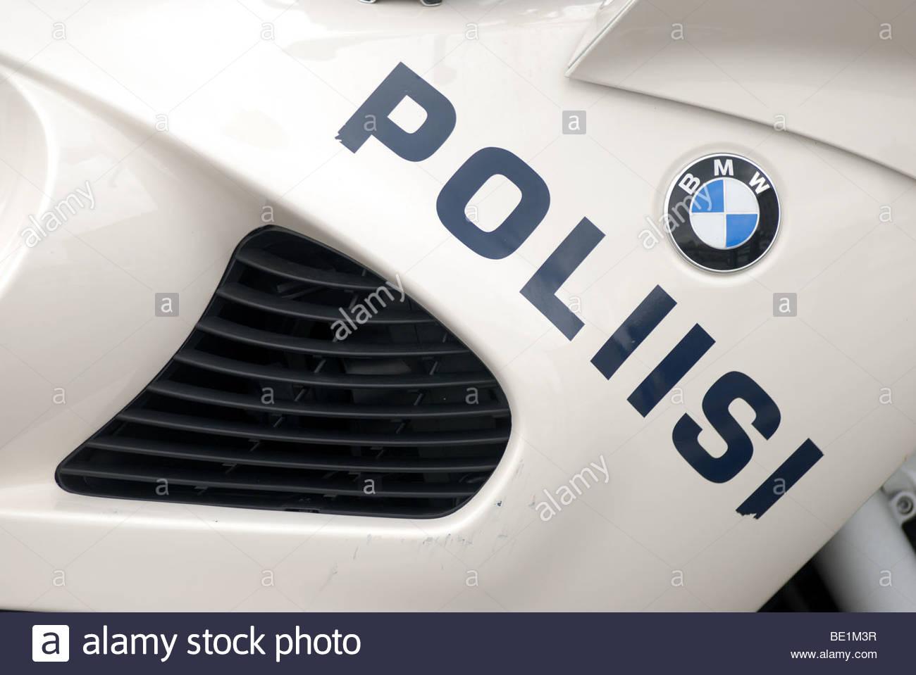 Helsinki Finland Bmw Police Motorbike Poliisi Stock Photo 25853291