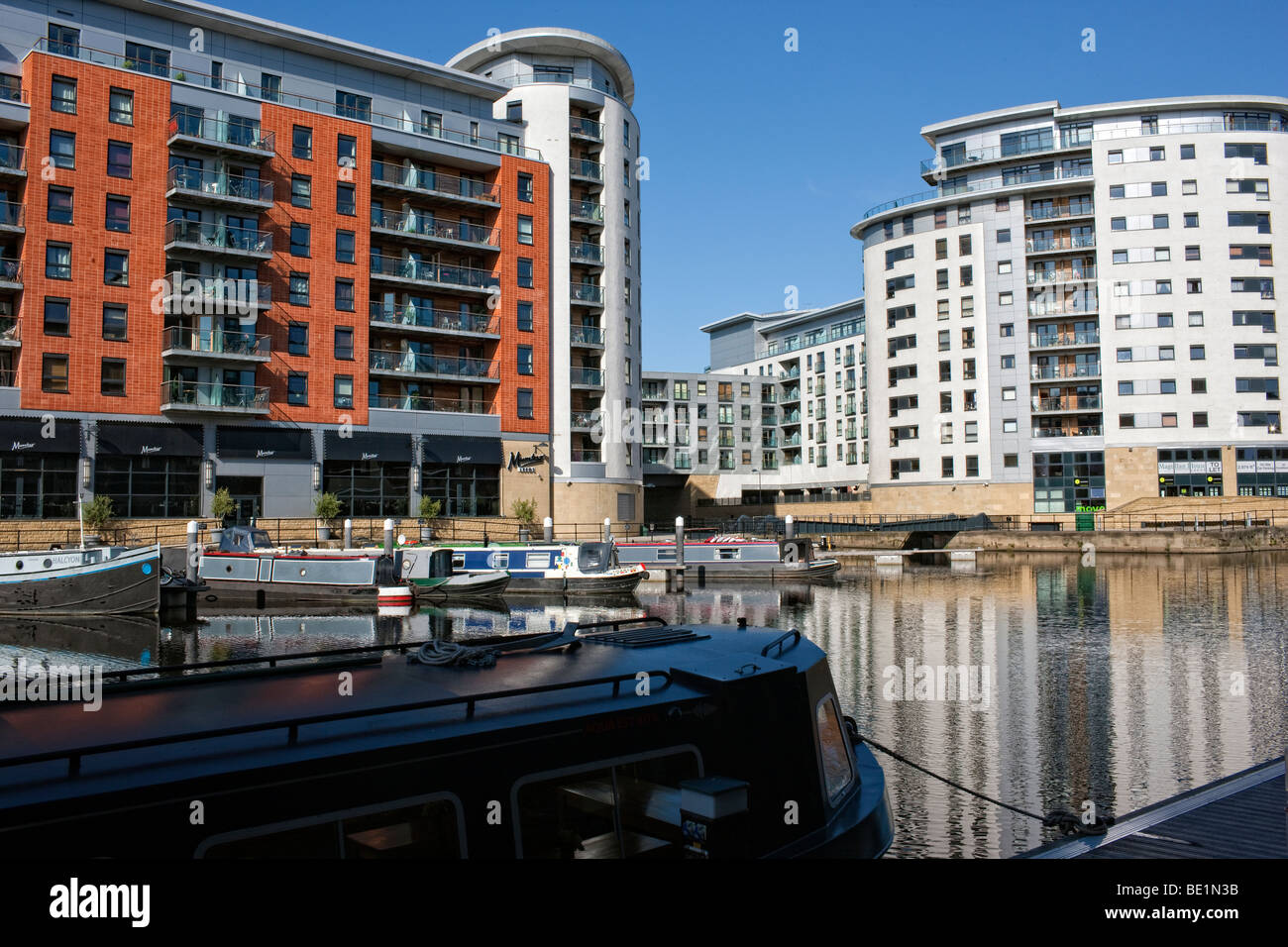 Clarence Dock in Leeds City Centre - Stock Image