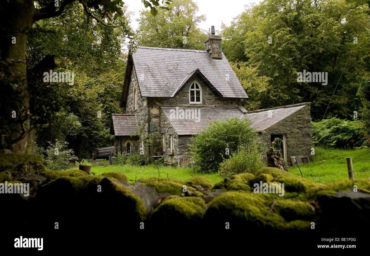 welsh traditional gate house cottage Stock Photo