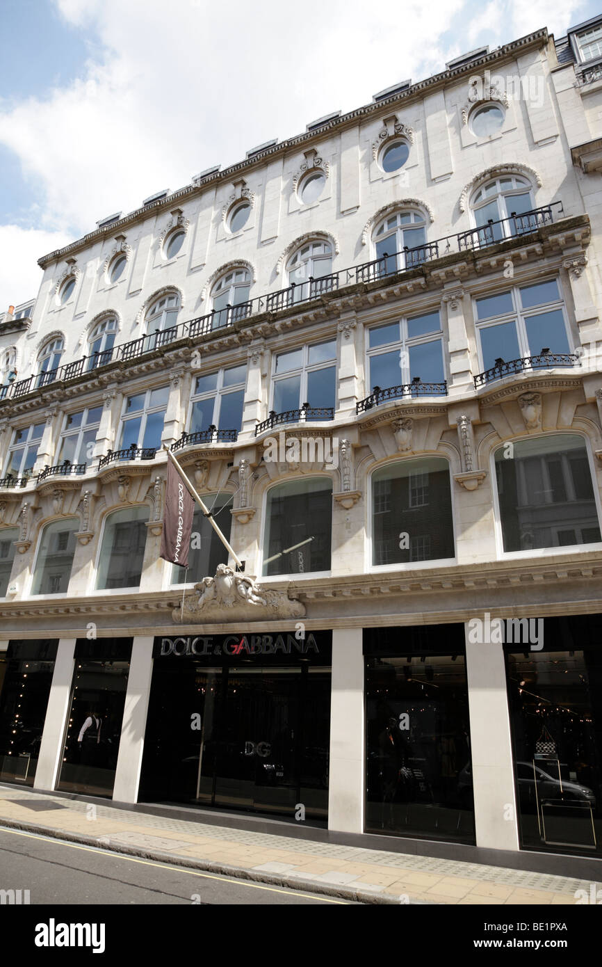 exterior of the dolce & gabbana store on old bond street mayfair london uk - Stock Image