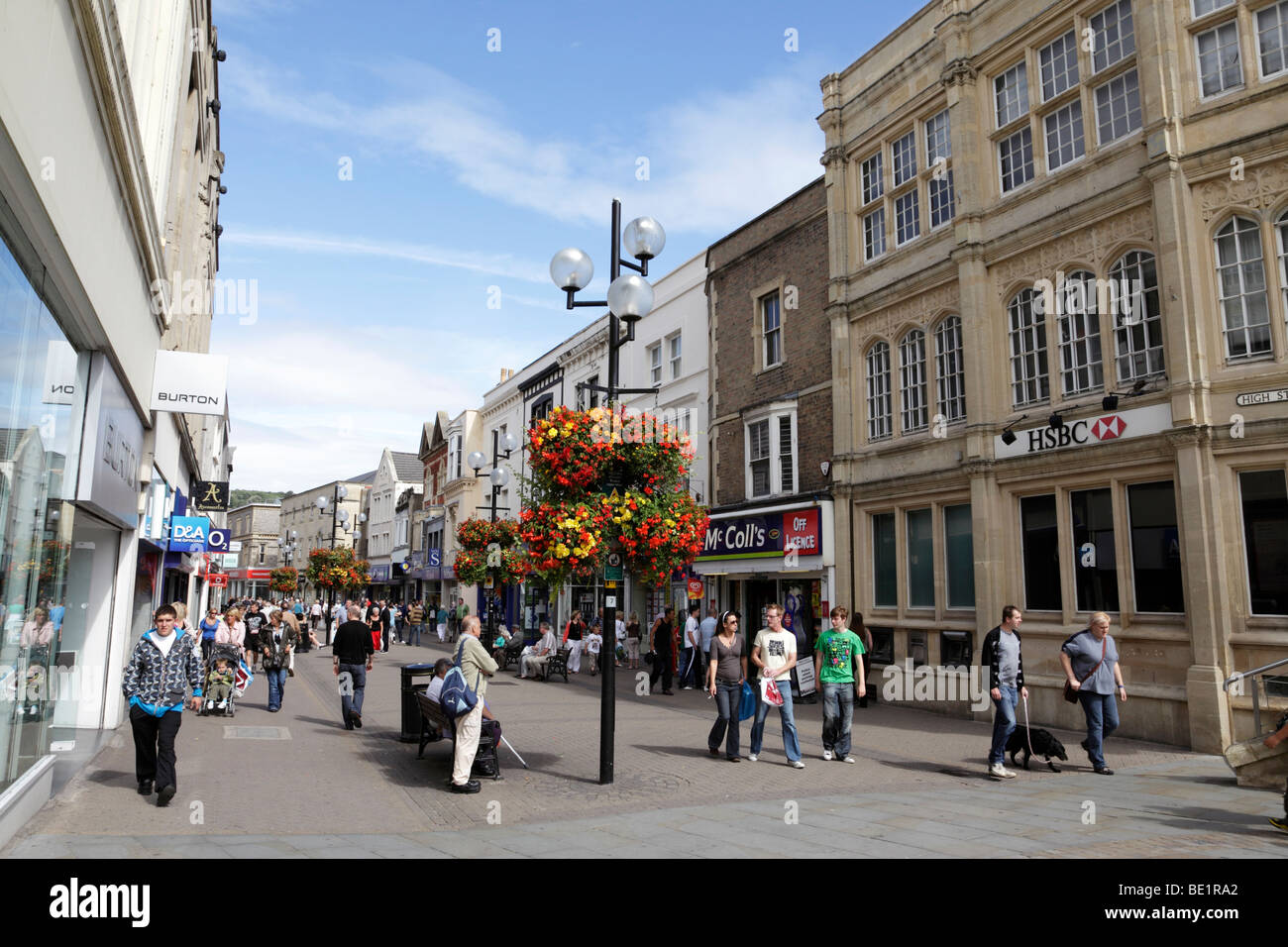 view along the high street weston-super-mare somerset uk - Stock Image